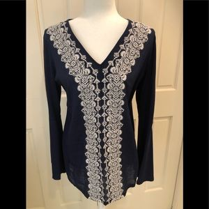 Michael Kors navy & white tunic sz S